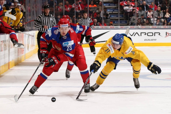 Russian Hockey Team beat Swedish Players during XXII Winter Universiade