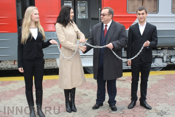 The First Rail Route to MEGA Trading Center has been opened in Nizhny Novgorod, Russia
