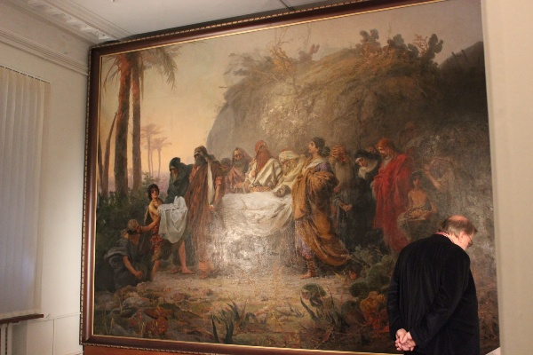 The Burial of Christ Canvas will be displayed after restoration in Nizhny Novgorod, Russia