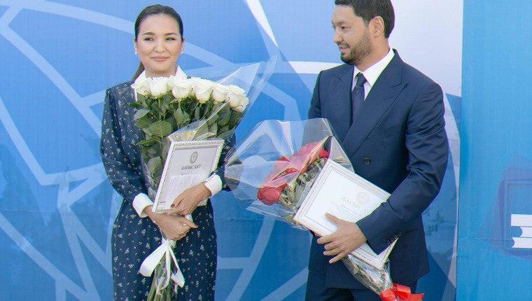 Kenes Rakishev and Aselle Tasmagambetova